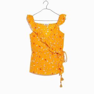 Madewell 100% Silk Wrap Cami Top US 10 NWT
